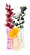 BoyzToyz RY559 Collapsible Vase Assorted Colours Flat Inflates Water Flowers New