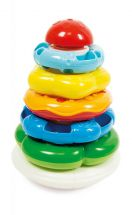 Clementoni 17103 5 Coloured Rings of Different Sizes Staking Ring Game - Multi