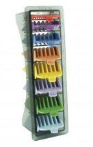 Wahl No.1-8 Coloured Plastic Combs in Caddy 3170-800