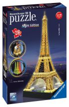 Ravensburger 12579 Colourful Eiffel Tower 3D Jigsaw Puzzle with 216 Piece Lights