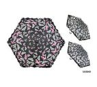 KS Brands UU0243 Assorted Butterfly Print 3 Section Supermini Umbrella - New