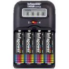 Infapower C006 One Hour Battery Charger 4x 2500mAh AA Batteries Included - New