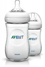Philips SCF690/17 Newborn Flow Teat Avent Natural One Feeding Bottle - Clear