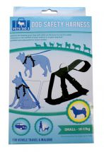 Boyztoys RY768 Padded Adjustable Small Dog Harness For Safe Car Travel 10-17Kg