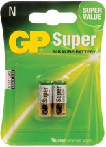 GP Alkaline Batteries Twin Pack of of N (LR1) Sized Batteries 656.024