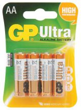 GP 656.010 GP Ultra High Performance Alkaline AA LR06 Batteries Pack of 4 - New