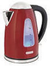 Lloytron 1.7 Litre Rapid Boil Cordless Kettle - Red Steel E1506