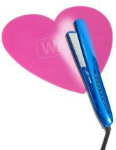 Wahl ZX842 Heart Shaped Hair Straightener Protective Colour Change Heat Mat Pink