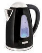 Lloytron 1.7 Litre Rapid Boil Cordless Kettle - Black Steel E1506