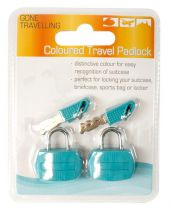 BoyzToys RY610 Gone Travellin' Twin Pack Bright Coloured Travel Luggage Padlock