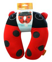 Boyz Toys RY698 Childrens Lady Bird Bug Neck Pillow Travel Comfort Red Black New
