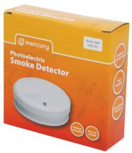 Mercury 350.125 Photoelectric Home Office Smoke Detector Alarm Battery Included