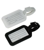 BoyzToys RY471 Gone Travellin' Twin Pack Identification Luggage Tags Black/White