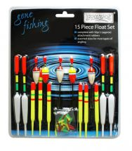Boyz Toyz RY186 Gone Fishing Float Set 15 Piece Angling Kit With 50 Rubbers New