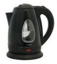 Lloytron 1.7 Litre Rapid Boil Cordless Kettle - Black Steel E1501