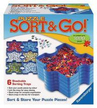 Ravensburger 17930 Puzzle Sort & Go 6 Stackable Trays Jigsaw Puzzle Sorter - New