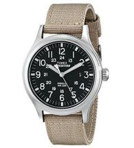 Timex T49962 Buckle Closure Expedition Scout with Beige Nylon Strap Wrist Watch