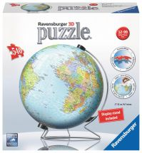 Ravensburger 12436 The World on V-Stand 3D Puzzle 540pc Jigsaw Children 12+