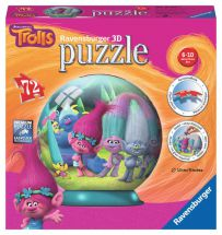 Ravensburger 12197 High Quality Children Trolls 3D Puzzle 72 Piece Jigsaw Puzzle
