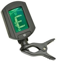Chord 173.278 Mini Clip On Guitar Tuner Backlit Colour Change LCD Needle Display