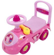 Peppa Pig M07108 Childrens Ride-On Car With Anti-Tip Features Colourful Graphics