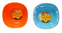Boyz Toys Twin Pack Reusable Small Plastic Bowls