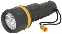 Mercury 410.327 Heavy Duty 3 LED All Rubber Torch Weather Shock Resistant Black