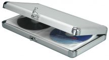 AV:Link Aluminium CD Protective Flight Case 40 Disc Carry Box 127.052