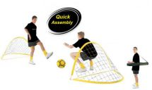 Kickmaster M06017 Set of 2 Lightweight Portable Training Goals Easy To Assemble