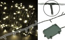 Fluxia 155.508 Battery Operated Warm White 160 LED String Lights 16m Length New