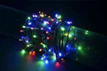 Fluxia 155.505 Battery Operated Multi Colour 80 LED String Lights 8m Length New