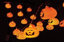 Qtx 155.528 Halloween Battery Powered 3D 20 Pumpkin Lanterns LED String Lights