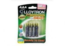 Lloytron B009 4 Pack NIMH AccuReady Rechargeable Battery AAA 800mAh Ready to Use