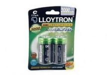 Lloytron B016 2 x NIMH AccuUltra High Capacity Rechargeable C Batteries 3000mAh