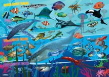 Ravensburger 07347 High Quality 60 Pieces Underwater Realm Giant Floor Puzzle