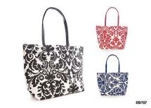 KS Brands BB0787 Paper Straw Flock Straw Print Bag Red Navy or Black Print - New