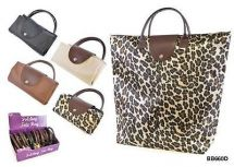 KS Brands BB0660 Spacious Folding Shopper Bag Assorted Designs - New