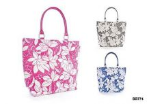 KS Brands BB0774 Bright Coloured Floral Print Straw Bag Assorted Colours - New