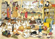 Ravensburger 19245 Crazy Cats in the Craft Room 1000 Pieces Adults Jigsaw Puzzle