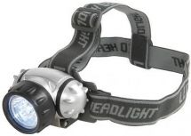 Mercury 410.332 Waterproof Lightweight 7 LED Head Torch Adjustable Headstrap New