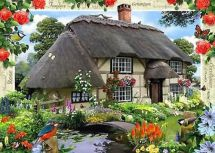 Ravsenburger 19219 Country Cottage Collection, River Cottage, 1000 Pieces - New