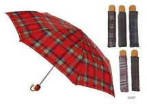 KS Brands UU0027 Umberella Tartan Supermini Handbag Size Assorted Colours Brolly