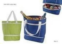 KS Brands BB0115 Beach Cooler Bag Zip Off Bottom Insulated Picnic Bag Blue Green