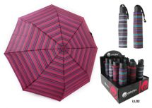 KS Brands UU0032 Umberella Supermini Handbag Size Brolly Striped Assorted Colour