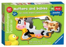 Ravensburger 06903 6 x 2 Piece My First Puzzles Mother & Babies Jigsaw Puzzle