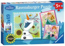 Ravensburger 09245 Disneys Frozen Fever 3 x 49 Piece Childrens Jigsaw Puzzle New