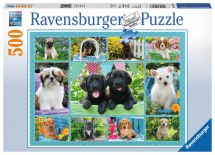 Ravensburger 14708 High Quality Puppy Love 500 Piece Dogs Jigsaw Puzzle Game