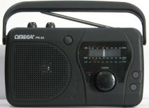 Omega PR-34 Portable MW/FM/LW Radio Carry Handle Tone Control Built In Speaker