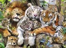 Ravensburger 12721 Colourful High Quality Big Cat Nap 200 Pieces Jigsaw Puzzle