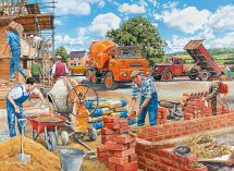 Ravensburger 14736 Happy Days at Work The Builder 500 Piece Nostalgic Jigsaw